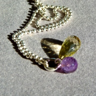 Amethyst & Lemon Citrin on Silver