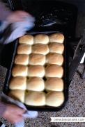 Freshly baked Czech 'buchty'