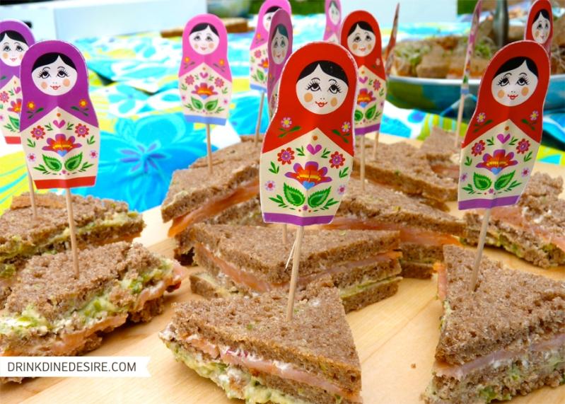 Sandwich with Babushka pics