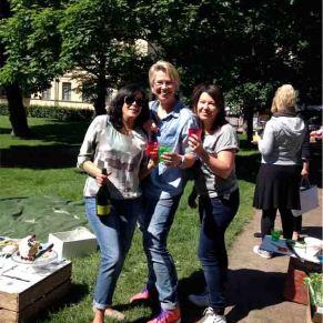 Meeta, Simone and Mari, Helsinki